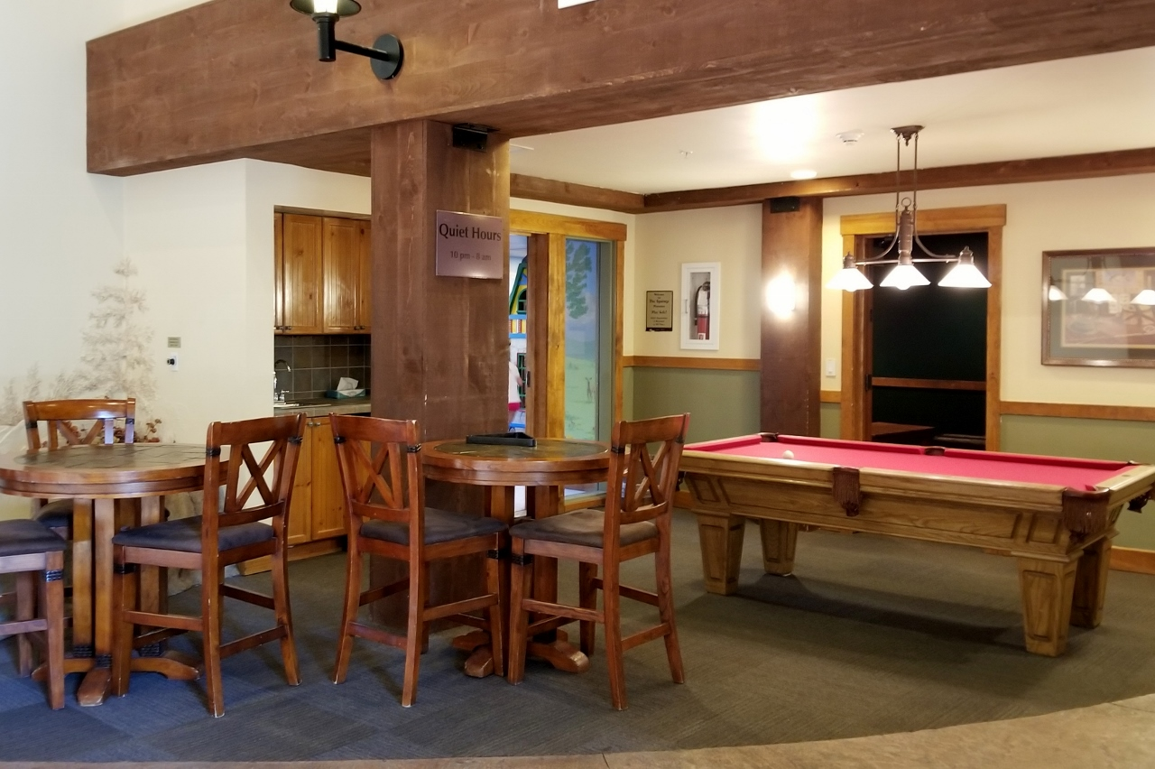 The pool room at The Springs at Keystone resort in Colorado