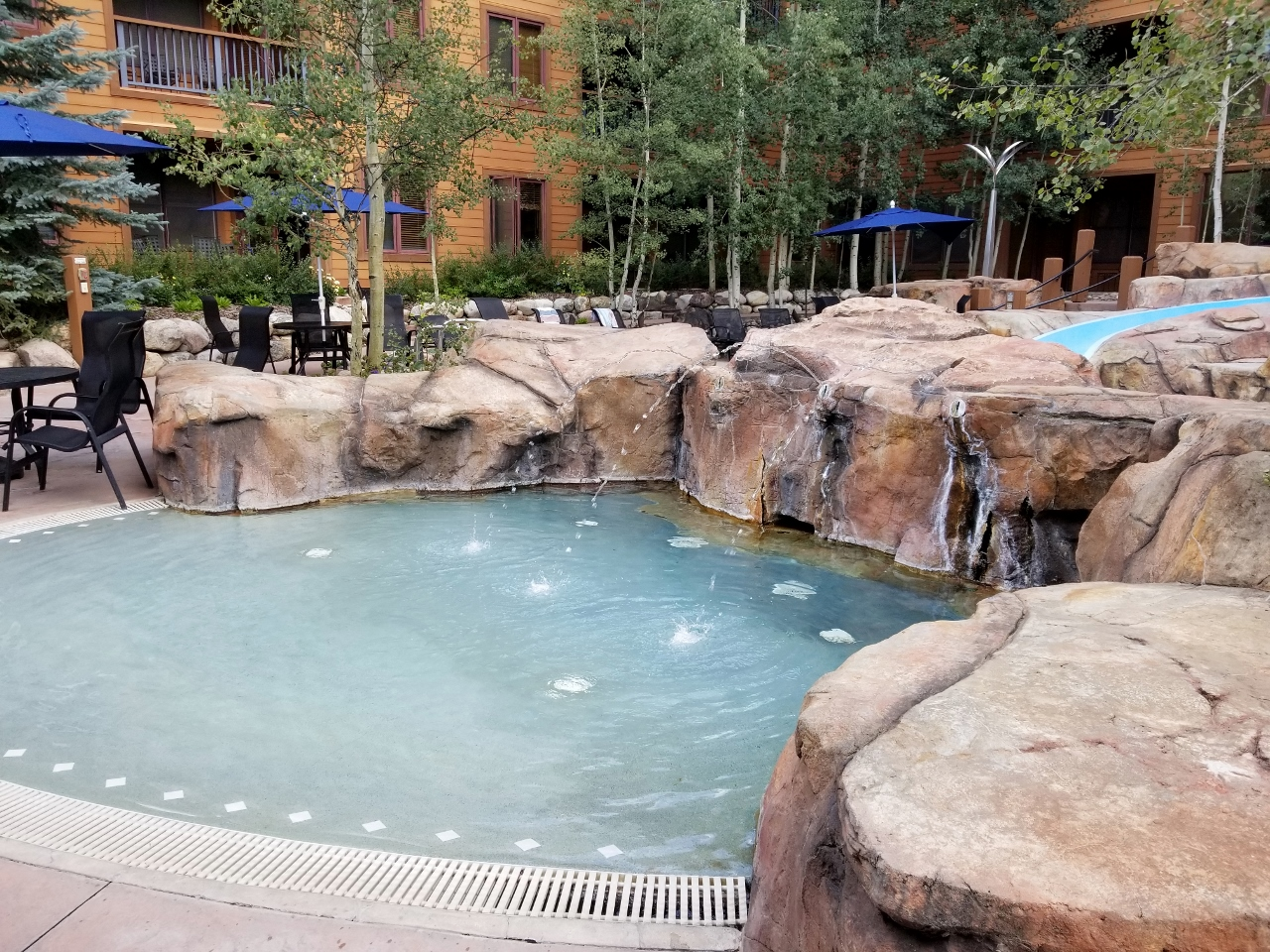 The kiddie pool at the springs at Keystone