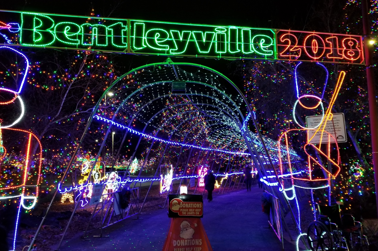 Entrance to Bentleyville Tour of Lights