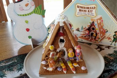 Building a gingerbread house advent calendar activities