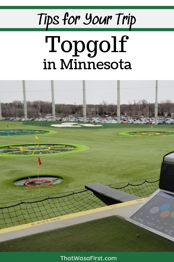 This guide is everything that you need to know for your first visit to Topgolf in Minnesota. How to master the reservation system, what to expect when you arrive at Topgolf, and tips about clubs, food, and games. What's more unique than golfing in January in Minnesota? #topgolf #Minnesota #thatwasafirst #Minneapolis