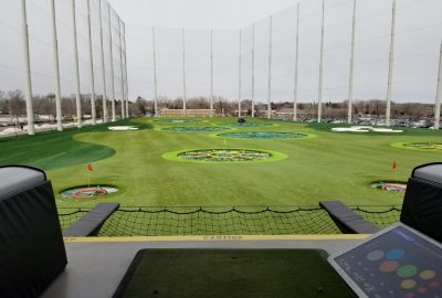 The driving range at Topgolf Minneapolis Minnesota