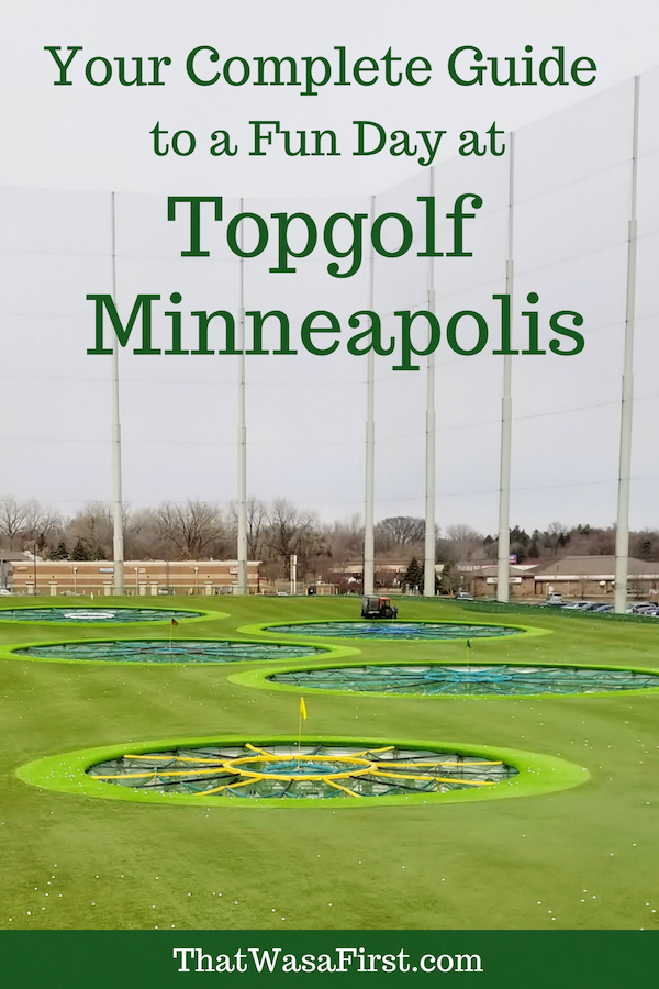 What you need to know before you go to Topgolf Minneapolis.  Learn about the reservation system, the pricing, and the food. #topgolf #minnesota #thatwasafirst #golf