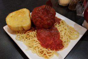 spaghetti at Pogos