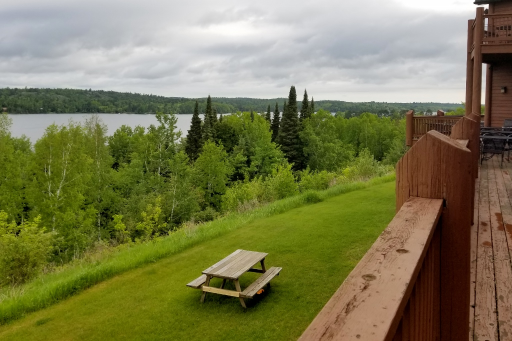 deck at Grand Ely Lodge