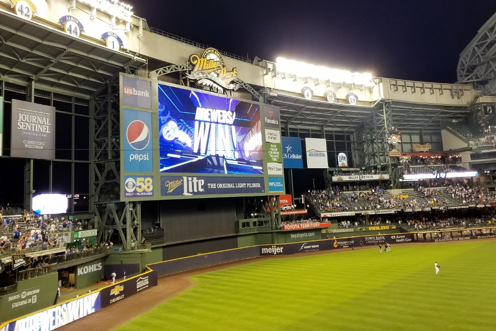 Miller Park tips Milwaukee Brewers