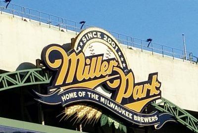 Miller Park tips milwaukee brewers
