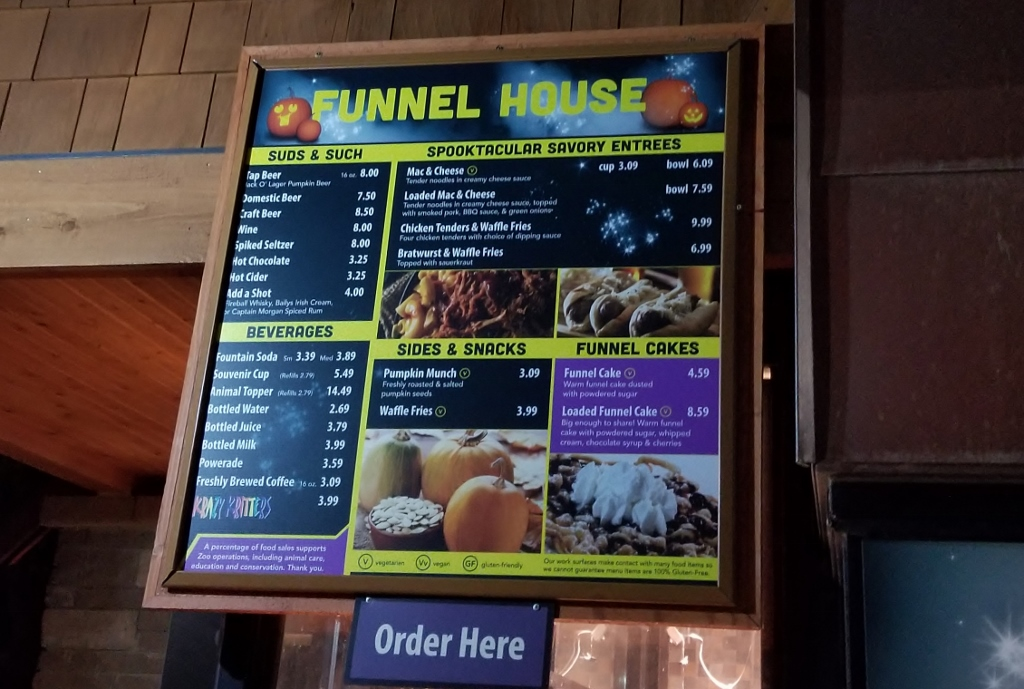 funnel house menu mn zoo