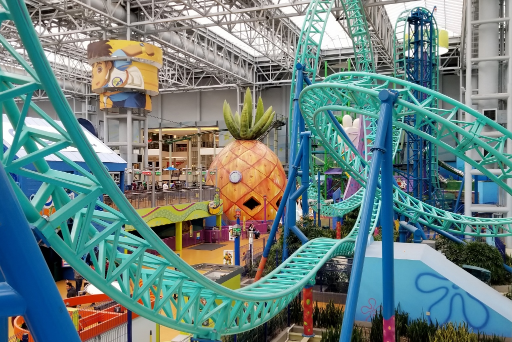 SpongeBobs house at Nickelodeon Universe