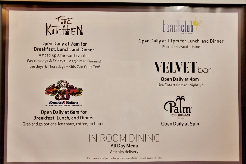 restaurants at Hard Rock Hotel Orlando